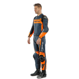 MISTEL 2PCS LEATHER SUIT BLACK-IRIS/BLACK-IRIS/ORANGE- Zweiteiler