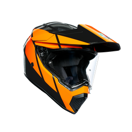 AX9 MULTI ECE DOT - TRAIL GUNMETAL/ORANGE - Full-face Touring