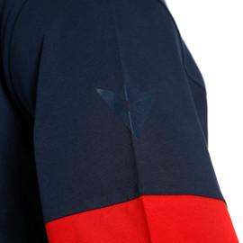T-SHIRT PADDOCK LS BLACK-IRIS/LAVA-RED/LAVA-RED- Casual Wear