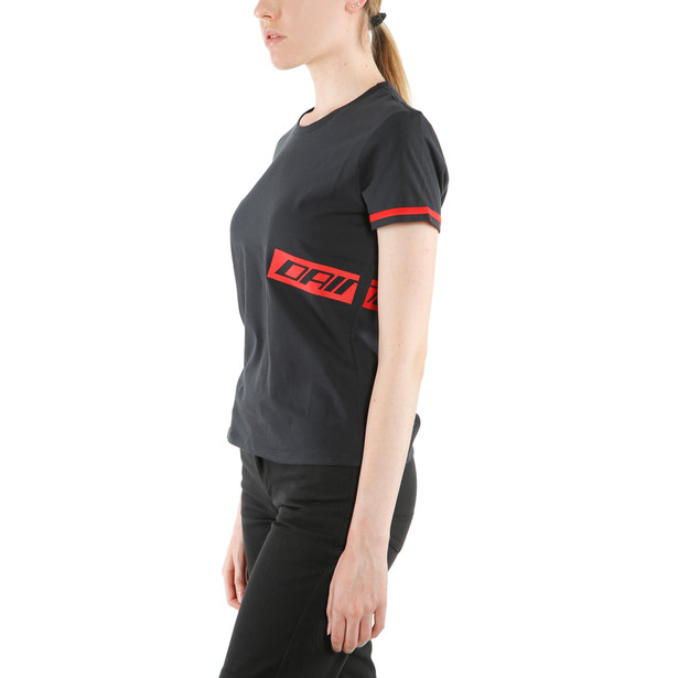 PADDOCK LADY T-SHIRT  BLACK/LAVA-RED- Women Accessories