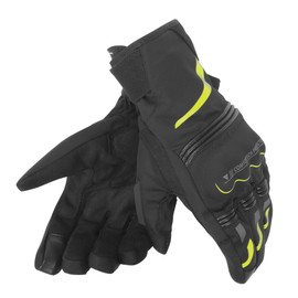 TEMPEST UNISEX D-DRY® SHORT GLOVES BLACK/YELLOW-FLUO
