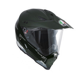 AX-8 DUAL EVO E2205 MULTI - WILD FRONTIER MILITARY GREEN/WHITE - Full-face