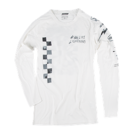 LIGHTNING72 LS T-SHIRT WHITE- Casual Wear