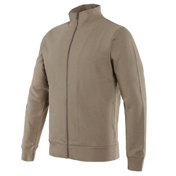 D72 FULL-ZIP SWEATSHIRT TAUPE-GRAY- Dainese72