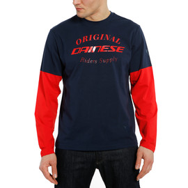 PADDOCK T-SHIRT LS BLACK-IRIS/LAVA-RED/LAVA-RED- Casual Wear