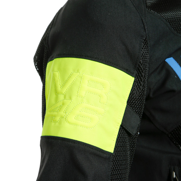 VR46 GRID AIR TEX JACKET BLACK/PRINCESS-BLUE/FLUO-YELLOW- VR46