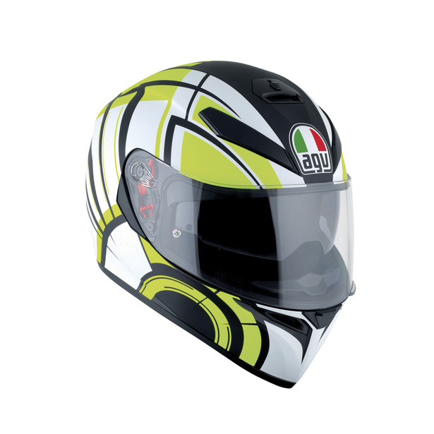 K-3 SV AGV E2205 MULTI PLK - AVIOR MATT WHITE/LIME - Promotions