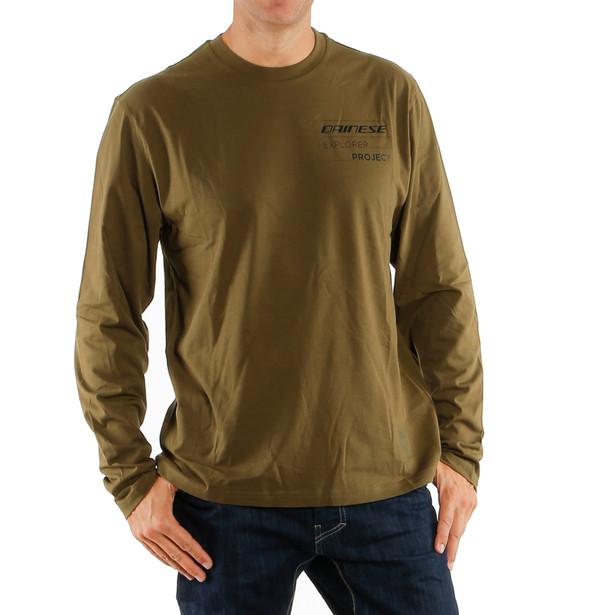 ADVENTURE T-SHIRT LS MILITARY-OLIVE/BLACK- Casual Wear