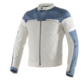 ZHEN LEATHER-TEX JACKET QUING-BLUE/QUING-WHITE/WHITE