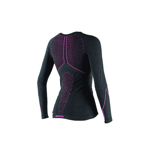 D-CORE THERMO TEE LS LADY BLACK/FUCHSIA- T-Shirt