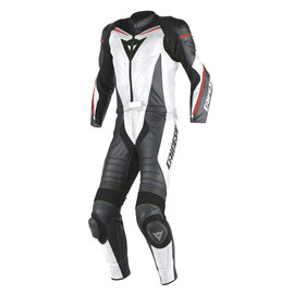 LAGUNA SECA D1 2PCS SUIT WHITE/BLACK/FLUO-RED