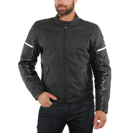 SAINT LOUIS LEATHER JACKET BLACK- undefined