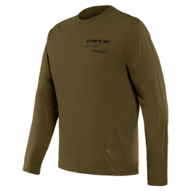 ADVENTURE T-SHIRT LS MILITARY-OLIVE/BLACK