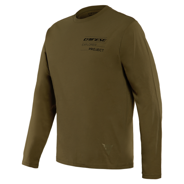 T-SHIRT ADVENTURE LS MILITARY-OLIVE/BLACK- Casual Wear