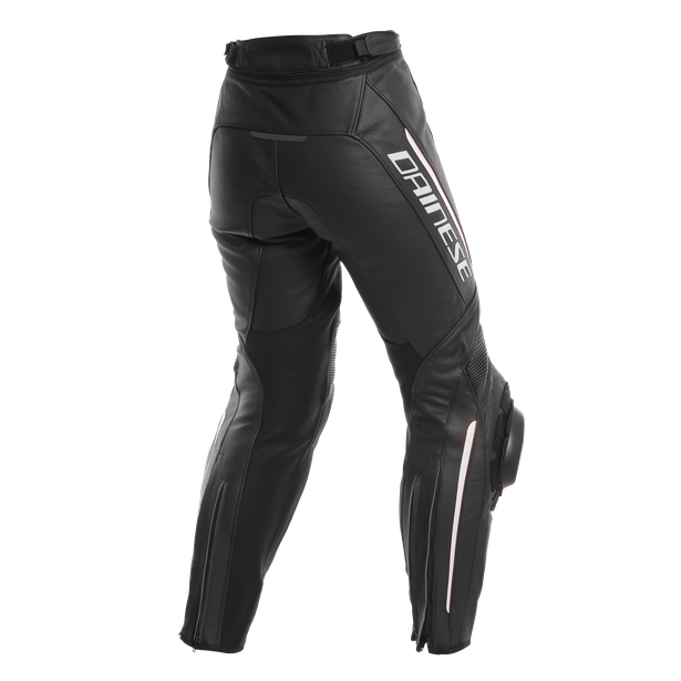 DELTA 3 LADY LEATHER PANTS BLACK/BLACK/WHITE- Leder