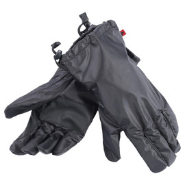 RAIN OVERGLOVES BLACK- Leather