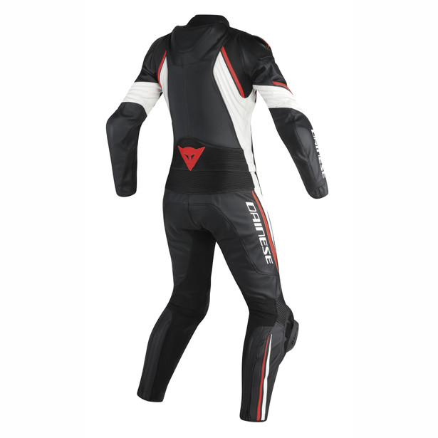 AVRO D2 2 PCS LADY BLACK/WHITE/RED-FLUO- Deux Pieces