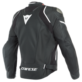 RACING 3 D-AIR PERF. LEATHER JACKET BLACK-MATT/BLACK-MATT/WHITE- Jackets