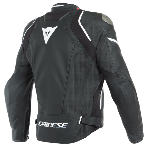 RACING 3 D-AIR PERF. LEATHER JACKET BLACK-MATT/BLACK-MATT/WHITE- D-air
