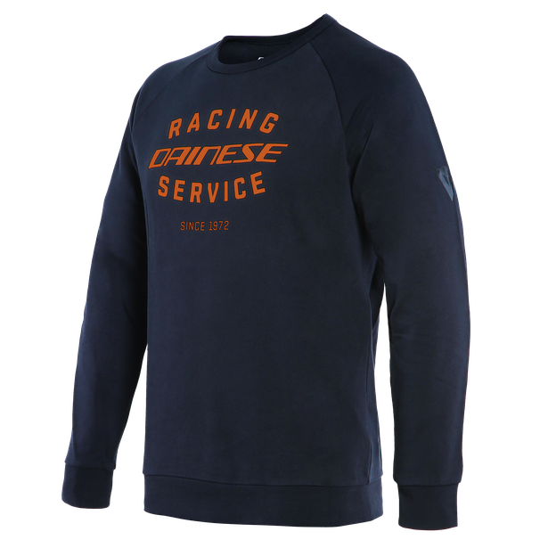 *PADDOCK SWEATSHIRT BLACK-IRIS/FLAME-ORANGE- undefined