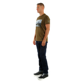 T-SHIRT ADVENTURE DREAM  MILITARY-OLIVE/BLACK- Casual Wear