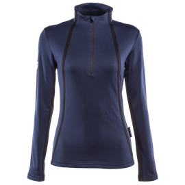 HP2 HALF ZIP LADY BLACK-IRIS/STRETCH-LIMO- Thermal Layers