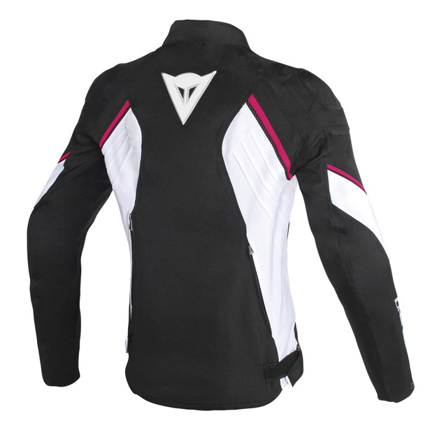 AVRO D2 TEX LADY JACKET BLACK/WHITE/FUXIA- Textile