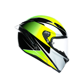 CORSA R MULTI ECE DOT - SUPERSPORT BLACK/WHITE/LIME - Racing