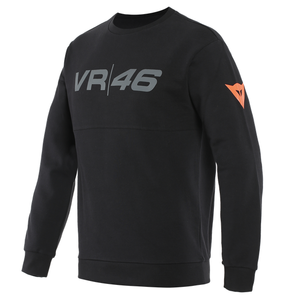 VR46 TEAM SWEATSHIRT BLACK/FLUO-YELLOW- VR46