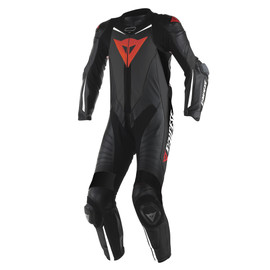 LAGUNA SECA D1 1PC PERF SUIT BLACK/BLACK/WHITE
