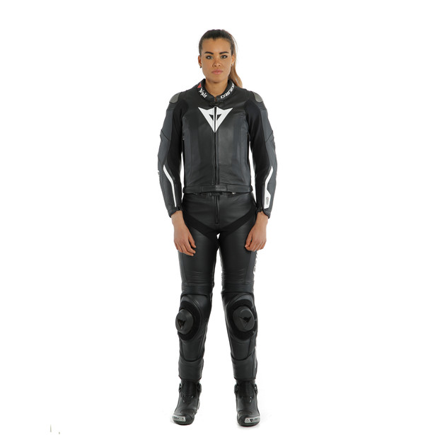 AVRO LADY D-AIR 2PCS SUIT BLACK/BLACK/WHITE- undefined