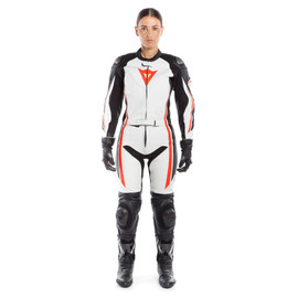 ASSEN 2 PCS LADY SUIT WHITE/BLACK/FLUO-RED- Two Piece Suits