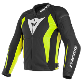NEXUS LEATHER JACKET BLACK/BLACK/FLUO-YELLOW