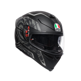 K-5 S E2205 MULTI - TORNADO BLACK/SILVER - Full-face