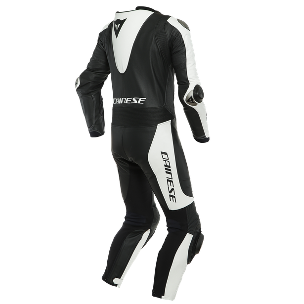 LAGUNA SECA 5 1PC LEATHER SUIT PERF. BLACK/WHITE- Lederkombi
