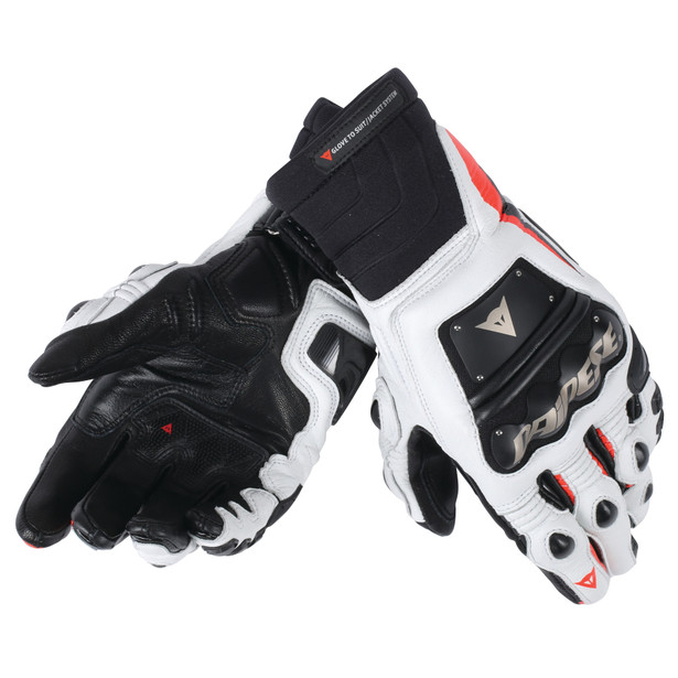 RACE PRO IN GLOVES BLACK/FLUO-RED/WHITE- Gloves