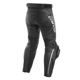 DELTA 3 LEATHER PANTS BLACK/BLACK/WHITE- Cuir