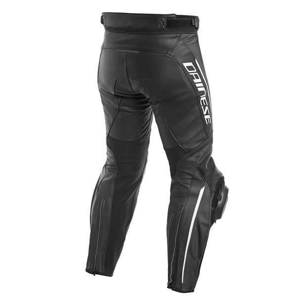 DELTA 3 PERF. LEATHER PANTS BLACK/BLACK/WHITE- Cuir