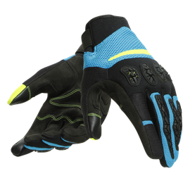 AEROX UNISEX GLOVES BLACK/FIRE-BLUE/FLUO-YELLOW