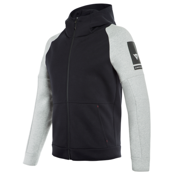 DAINESE FULL-ZIP HOODIE BLACK/MELANGE- Casual Wear