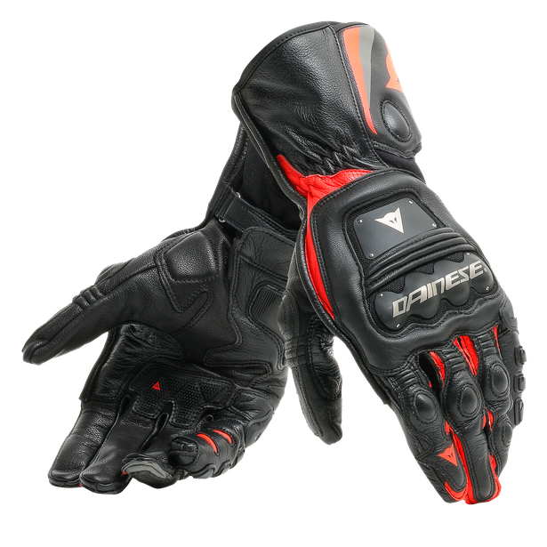 STEEL-PRO GLOVES BLACK/FLUO-RED- Leather