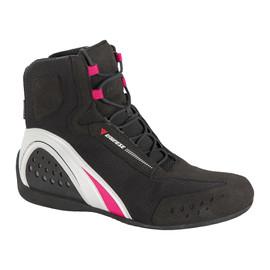 MOTORSHOE LADY D-WP® SHOES JB  BLACK/WHITE/FUCHSIA- Shoes