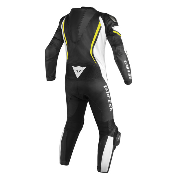 ASSEN 1 PC. PERF. SUIT BLACK/WHITE/YELLOW-FLUO- Lederkombi