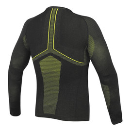 D-CORE NO-WIND DRY TEE LS BLACK/YELLOW-FLUO- Technical Layers