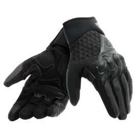 X-MOTO UNISEX GLOVES BLACK/ANTHRACITE- Leather