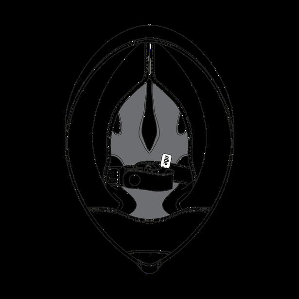 AGV CROWN PAD CORSA R (L) - BLACK - Accessori