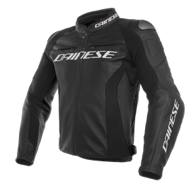 RACING 3 LEATHER JACKET BLACK/BLACK/BLACK