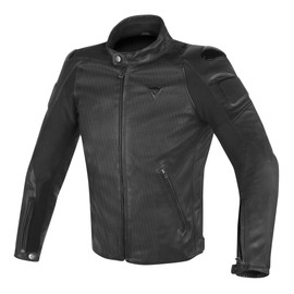 STREET DARKER PERFORATED LEATHER JACKET BLACK- Jackets