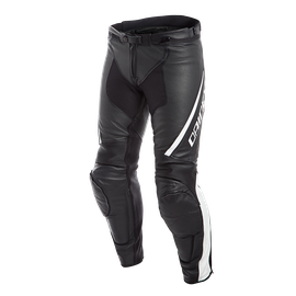ASSEN PERF. LEATHER PANTS BLACK/WHITE