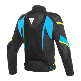 SUPER RIDER D-DRY JACKET BLACK/FIRE-BLUE/FLUO-YELLOW- Waterproof